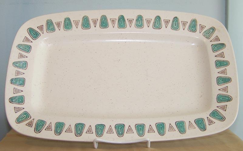 Metlox Poppytrail Navajo 14.75 inch Rectangular Platter