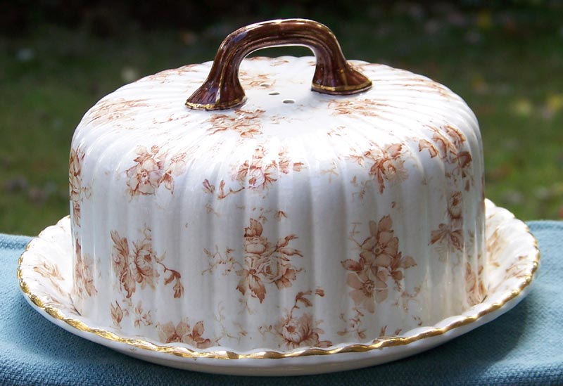 Ridgways Verona Transferware Covered Cheese Server Dish circa 1891