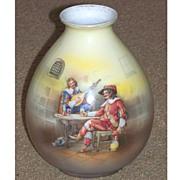 Royal Bayreuth Ovoid Vase Musketeers in Pub