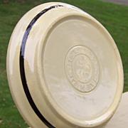 Watt Vintage OvenWare Black Band Pie Baker 9 inches