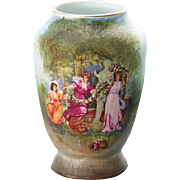 Royal Bayreuth Tapestry Scenic Cabinet Vase