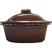 Vintage Hull Brown Drip Glaze 4 Quart Casserole Covered HTF 12 by 9