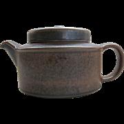 Vintage Arabia Ruska Teapot Infuser Finland 5 cup Brown Modernist