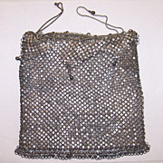 800 or Silver Plate Mesh Drawstring Purse