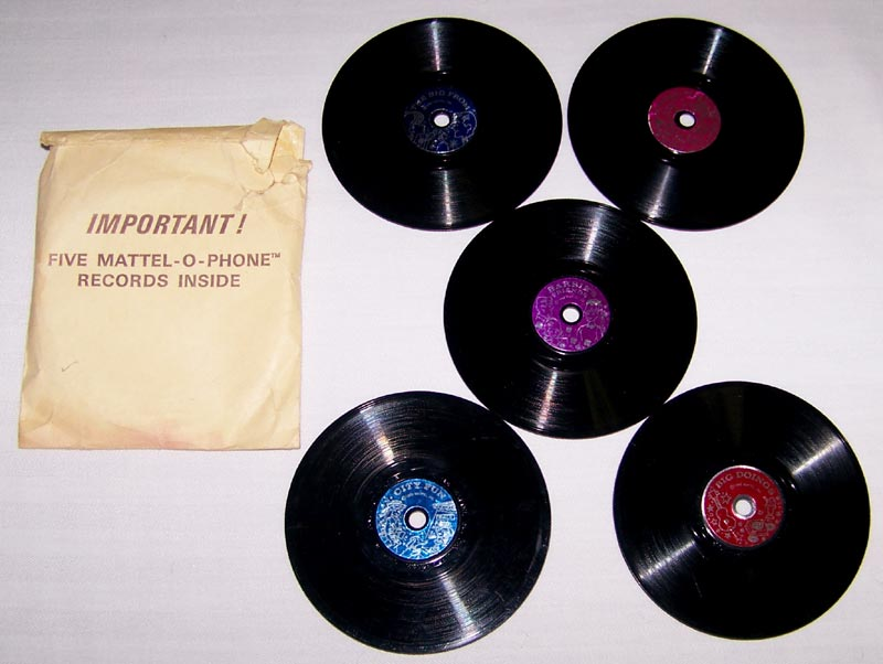 Mattel 5-piece 'Mattel-o-Phone' Record Set with Original Wrapper