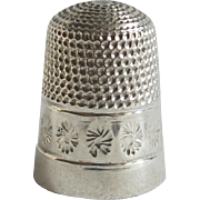 Vintage Swann and Son Sterling Thimble 1977 Silver Size 10
