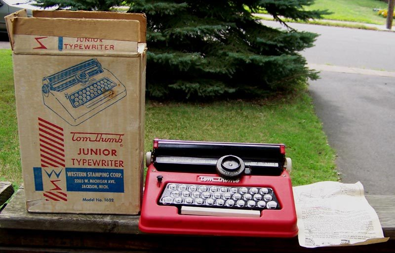 Tom Thumb Junior Typewriter Original Box Instructions