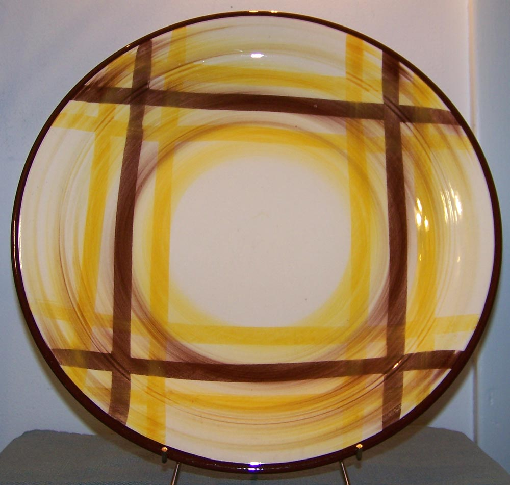 Vernon Kilns Organdie 14 inch Chop Plate in HTF Large Size