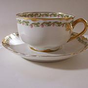 """Vintage Haviland """"Clover Leaf"""" Cup & Saucer - Discontinued"""