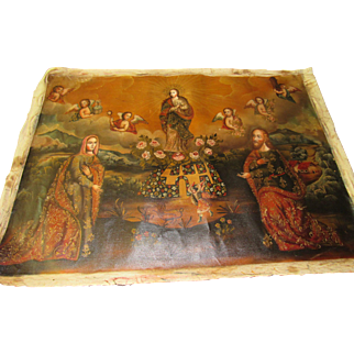 Vintage CUZCO Primitive Painting