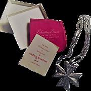 1977 REED & BARTON Sterling Christmas Cross