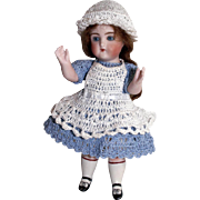 "Doll Dress, Pinafore, Bonnet & Bloomers Alice in Wonderland Set for Miniature All Bisque 5"" - 6.5"" Mignonette Doll"