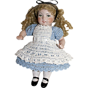 "Doll Dress, Pinafore & Bloomers Alice in Wonderland Set for Miniature All Bisque 6"" - 7"" Mignonette / Riley Doll"