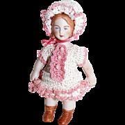"""Doll Dress Pants French Bonnet for 3.5-4"""" Miniature Antique Bisque Mignonette"""
