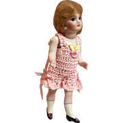 "CHEMISE / PANTALETTES for Miniature Bisque 4.5 - 5.5"" Mignonette Doll Crochet in Pink"