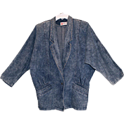 GYPSY Denim JACKET Acid Wash Silver Studs Decorated Vintage 1980s Womens Western Clothing