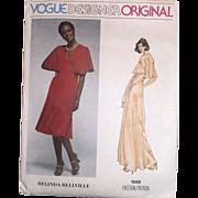 Vogue Designer Original Belinda Bellville Sewing Pattern #1568 Size 14 Vintage 70's Sewing