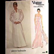 VOGUE PARIS ORIGINAL 2835 Pierre Balmain Designer UNCUT Sewing Pattern Gown &  Jacket Size 16