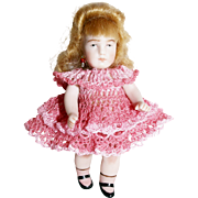 "Doll Dress & Knickers Set for 3-3.5"" Doll Bisque Miniature Mignonette"