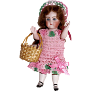 "Doll Dress Set Mary, Mary Quite Contrary Garden Seeds in Basket for Miniature All Bisque 5-6"" Doll"