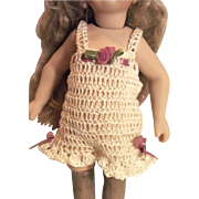 "Doll CHEMISE PANTALETTES for Miniature Bisque 7-8.5"" Mignonette Doll Lingerie Hand Crochet"