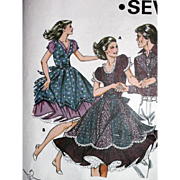 Square Dance Dress Pattern 6 8 10 12 Kwik Sew #1159 UNCUT Vintage 1980's Western Wear