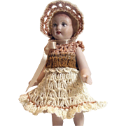 "Dress Pants & Bonnet Set for 5""- 6"" Doll Bisque Miniature Mignonette"