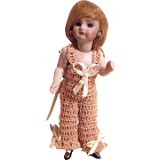 "CHEMISE / PANTALOONS for Miniature Bisque 4.5 - 5.5"" Mignonette Doll Crochet in Peaches & Cream"