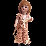 "CHEMISE / PANTALOONS for Miniature Bisque 4.5 - 5.5"" Mignonette Doll Crochet in Peaches & Cream"