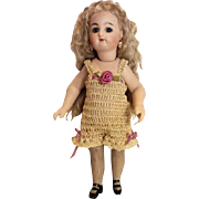 CHEMISE/PANTALETTES for Miniature Bisque 7, 8, or 9 Inch Mignonette Doll ECRU / Mauve