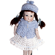 Dress, Pants, Sweater & Hat for 7 to 8 Inch All Bisque Just Me / Ginny Doll Hand Crochet Clothing