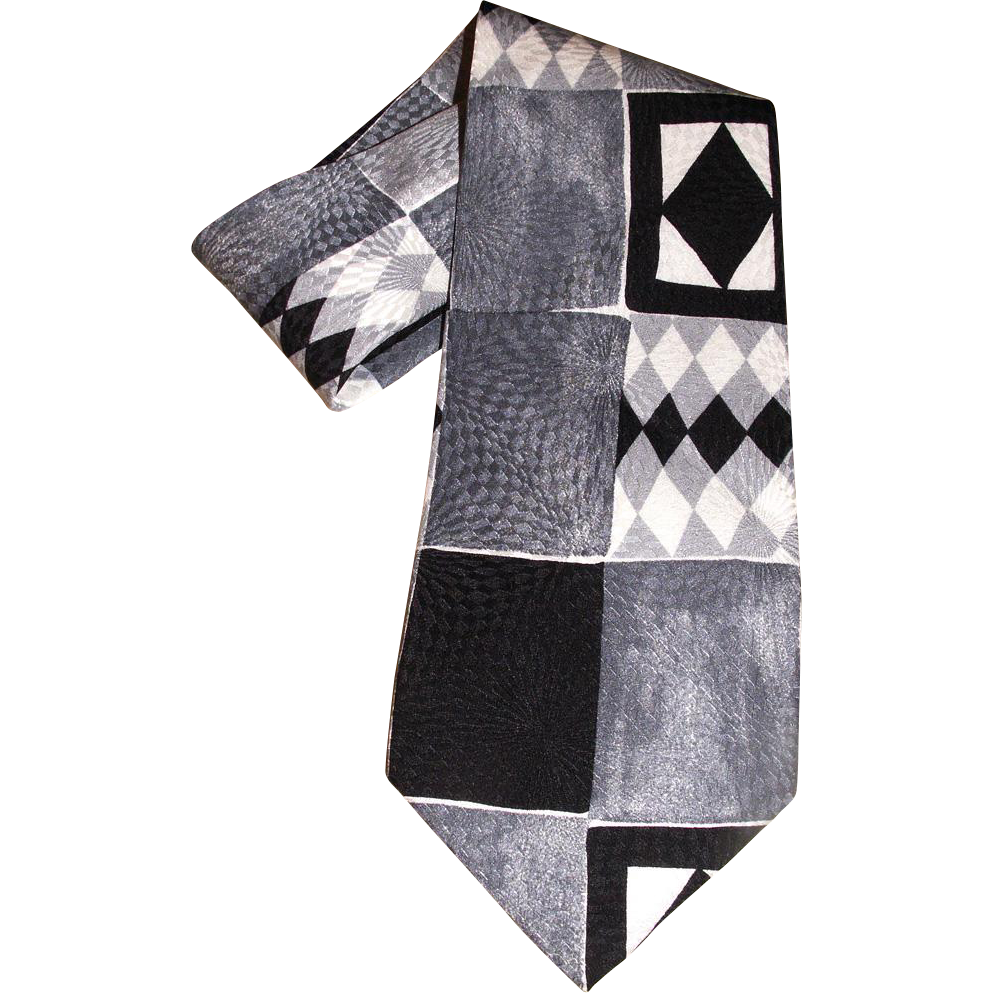 Men's Neck Tie Monterey County by the Sea Pure SILK Made by Hand for MEN'S WEARHOUSE