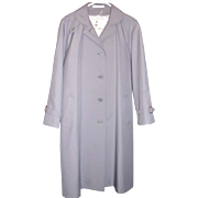 MISTY HARBOR Raincoat All Weather Coat Dove GRAY Miss 12 petite