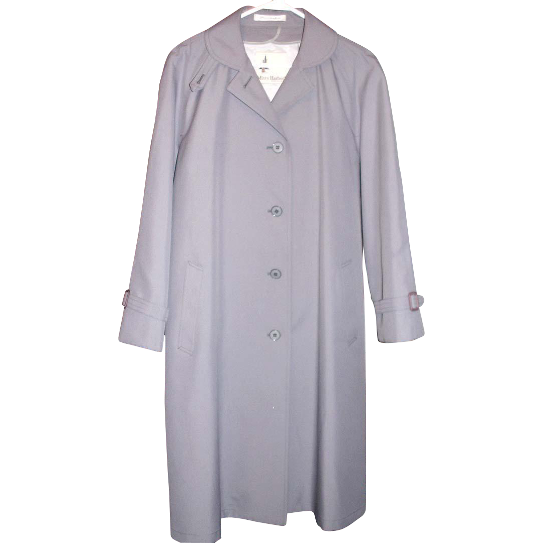 MISTY HARBOR Raincoat All Weather Coat Dove GRAY Miss 12 petite