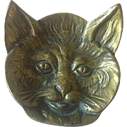 Brass Cat Footed Pin Dish
