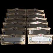 Set of 12 Tirschenreuth Bavaria Porcelain Place Card Holders