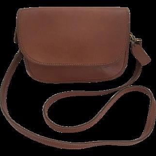 Vintage COACH Ritchie 9937 British Tan Cross Body Purse Handbag C1980's