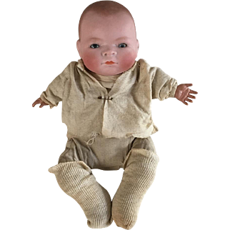 "11"" Antique Grace S. Putnam Bye-Lo Baby Doll, Sleeping Eyes, Made in Germany"