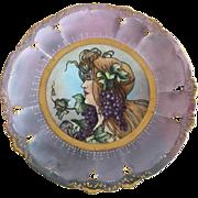 Limoges Art Nouveau Signed Portrait Cabinet Plate