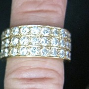 Lady's 3.5 Carat VS Diamond 14K Yellow Gold Ring