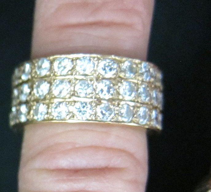 Lady's 3.5 Carat VS Diamond 14K Yellow Gold Ring