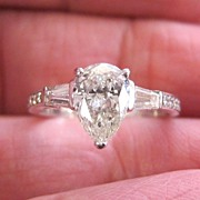 Lady's 1.12 VS Pear Shaped Diamond Ring