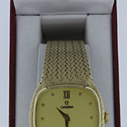 Man's Omega 14K Yellow Gold Bracelet Watch