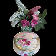 Tressemann & Vogt ( T & V ) Limoges Vanity Jar - ROSES !!!