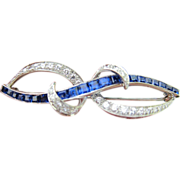Awesome Sapphire, VS Diamond & Platinum Pin