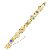 Lady's 14 K  Yellow Gold Victorian Style Slide Bracelet
