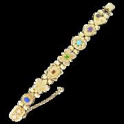 Lady's 14 K  Yellow Gold Victorian Style Slide Bracelet