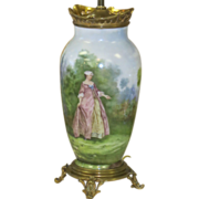 RARE Baccarat Hand Painted Lamp