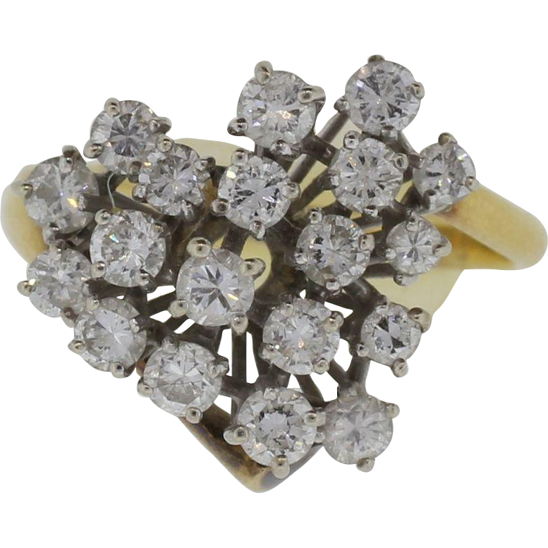 18K 1.6 Total Weight Lady's Diamond Ring
