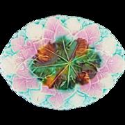 Majolica Begonia Leaf Platter #240
